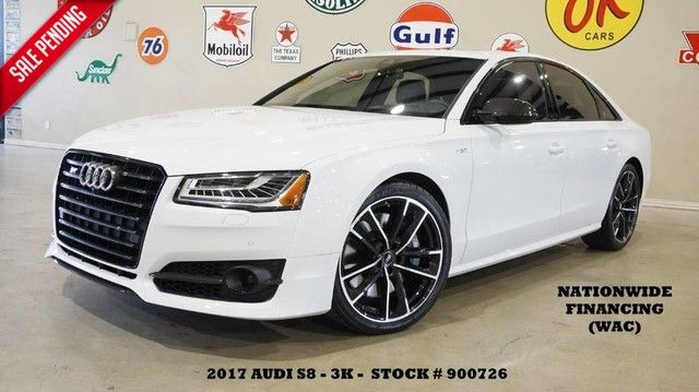 2017 Audi S8 plus Quattro HUD,ROOF,NAV,BACK-UP,360 CAM,HTD/COOL L...