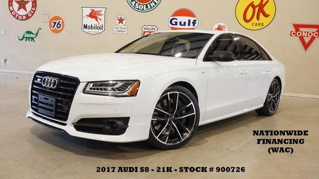 2017 Audi S8 plus Quattro HUD,ROOF,NAV,360 CAM,HTD/COOL LTH,21K