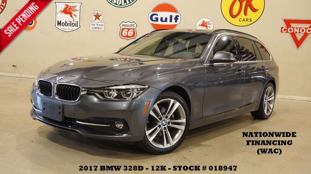 2017 BMW 328d xDrive Sports Wagon HUD,PANO ROOF,NAV,HTD LTH,12K