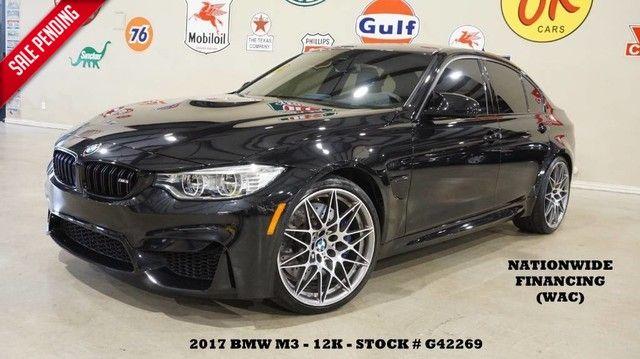 2017 BMW M3 Sedan MSRP 81K,HUD,NAV,F&SIDE CAM,HTD LTH,20'S,...