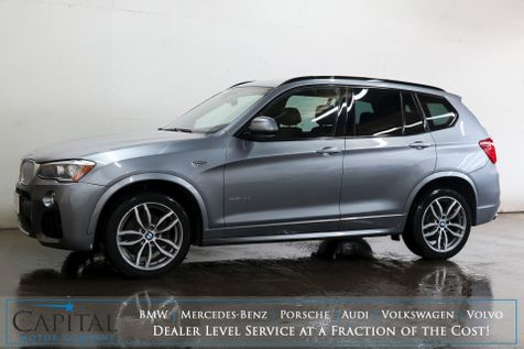 2017 BMW X3 xDrive35i AWD Luxury SUV with M-Sport Pkg, Navigation, Cold Weather Pkg & Harman/Kardon Audio in Eau Claire
