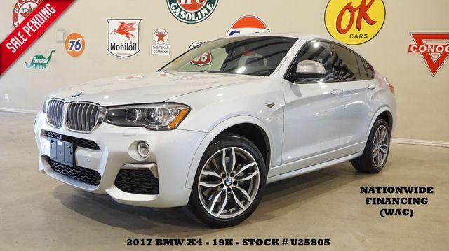 2017 BMW X4 M40i MSRP 62K SUNROOF,NAV,360 CAM,LEATHER,19K