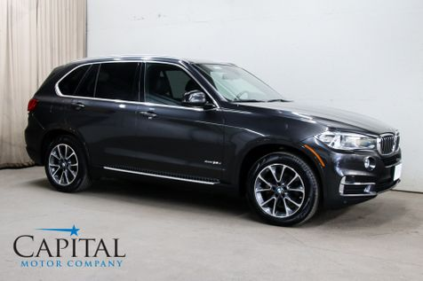 2017 BMW X5 xDrive35d AWD Clean Diesel SUV w/3rd Row Seats, Navigation, 360º Cam, Panoramic Roof & H/K Audio in Eau Claire