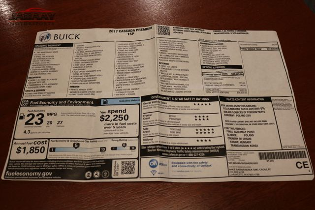 2017 Buick Cascada Premium Merrillville, Indiana 51