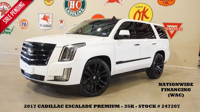 2017 Cadillac Escalade Premium Luxury HUD,ROOF,NAV,360 CAM,REAR DVD,35K
