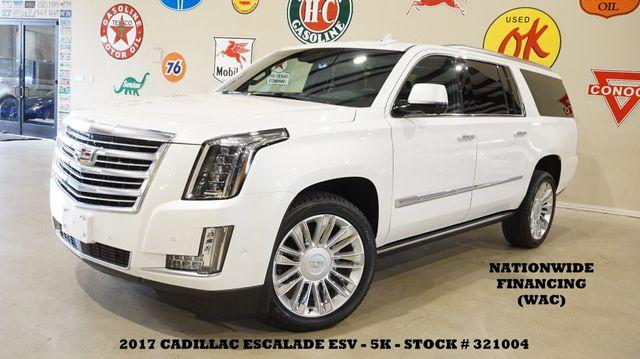 2017 Cadillac Escalade ESV Platinum HUD,ROOF,NAV,360 CAM,REAR DVD,22'S,5K!