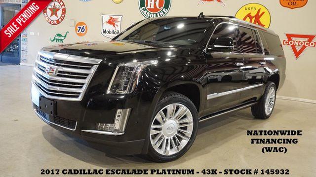 2017 Cadillac Escalade ESV Platinum HUD,ROOF,NAV,360 CAM,REAR DVD,43K