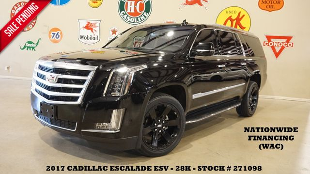 2017 Cadillac Escalade ESV NAV,360 CAM,HTD/COOL LTH,QUADS,BLK 22'S,28K