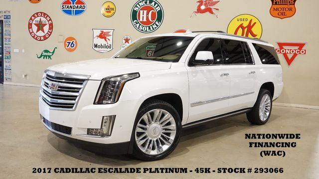 2017 Cadillac Escalade ESV Platinum 4WD HUD,ROOF,360 CAM,REAR DVD,45K