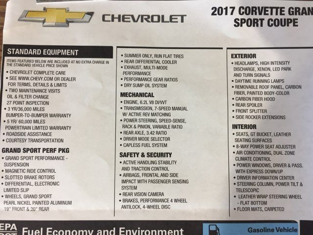 2017 Chevrolet Corvette Grand Sport 2LT in Boerne, Texas 78006