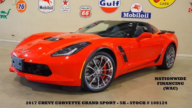 2017 Chevrolet Corvette Grand Sport 3LT AUTO,NAV,F. CAM,CHROME WHLS,5K