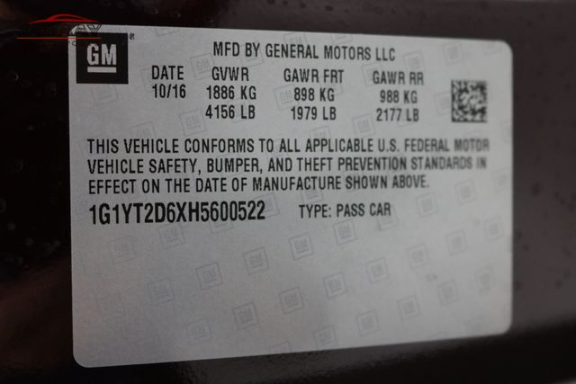 2017 Chevrolet Corvette Z06 3LZ Merrillville, Indiana 52