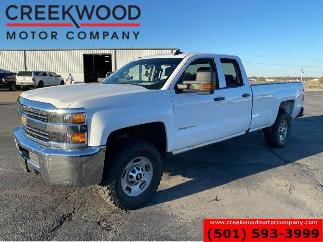 2017 Chevrolet Silverado 2500HD Work Truck SLE 4x4 6.0 Gas White Long Bed 1 Owner