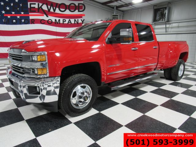 2017 Chevrolet Silverado 3500HD LTZ 4x4 Diesel Allison Dually Red 1 Owner Nav NICE