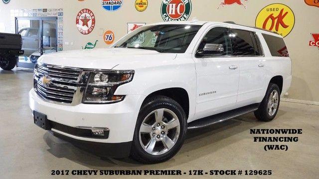 2017 Chevrolet Suburban Premier 4X4 NAV,BACK-UP,HTD/COOL LTH,QUADS,17K,...