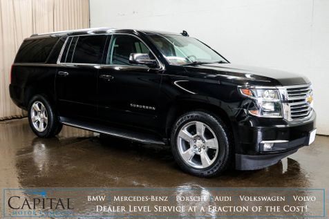 2017 Chevrolet Suburban Premier 4x4 Luxury SUV w/3rd Row Seats,, Dual DVD Screens, Nav, Heated/Cooled Seats & BOSE in Eau Claire