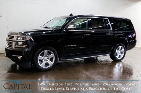 2017 Chevrolet Suburban Premier 4x4 Luxury SUV w/3rd Row Seats, Dual DVD Screens, Nav, Heated/Cooled Seats & BOSE in Eau Claire
