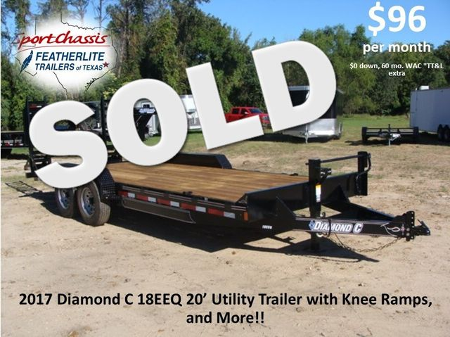 2017 Diamond C 18EEQ EXTREME DUTY EQUIPMENT TRAILER 20' CONROE, TX