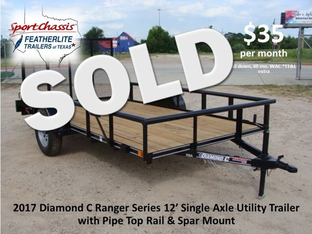 "2017 Diamond C Ranger Series RSA - 12' X 72"" CONROE, TX 0"
