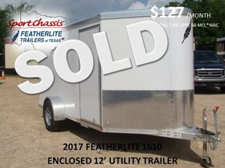 2017 Featherlite 1610 - 12 Encl Utility 12' ENCLOSED UTILITY CONROE, TX