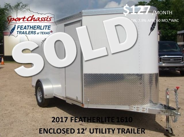 2017 Featherlite 1610 - 12 Encl Utility 12' ENCLOSED UTILITY CONROE, TX 0