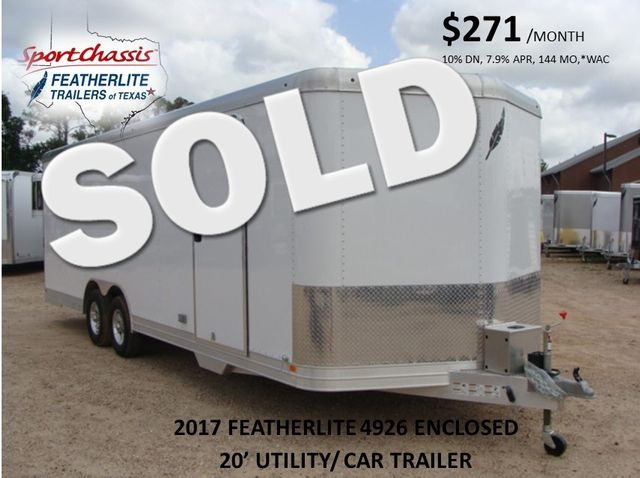 2017 Featherlite 4926 - 24' Enclosed Car Trailer 24' ENCLOSED UTILITY TRAILER CONROE, TX 0