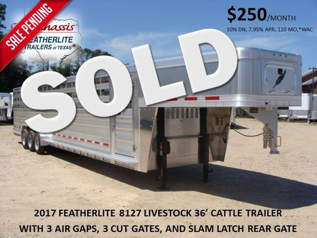 2017 Featherlite 8127 - 36' Stock Trailer 36' LIVESTOCK/ CATTLE TRAILER CONROE, TX 0