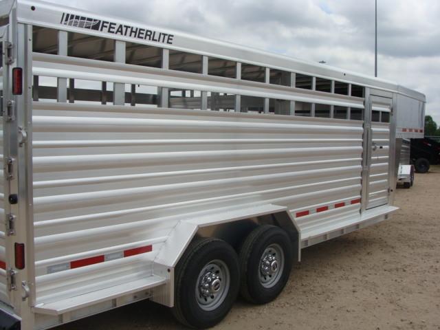 2017 Featherlite 8127 - 20' Stock Trailer 20' LIVESTOCK/ CATTLE TRAILER CONROE, TX 13