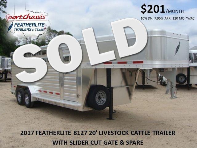2017 Featherlite 8127 - 20' Stock Trailer 20' LIVESTOCK/ CATTLE TRAILER CONROE, TX