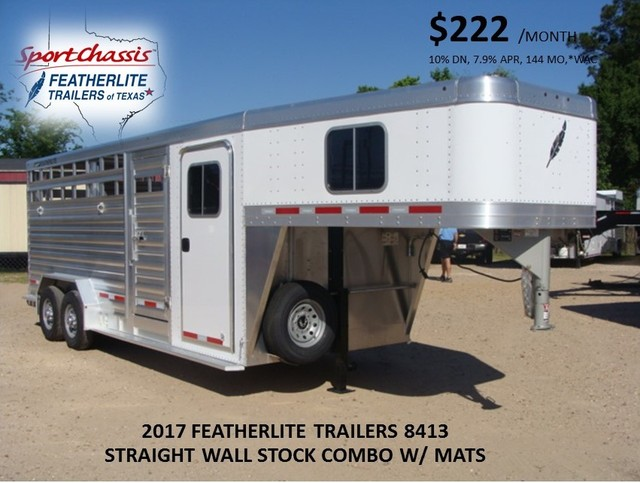 2017 Featherlite 8413 STOCK/ COMBO 20' STRAIGHT WALL CONROE, TX 0