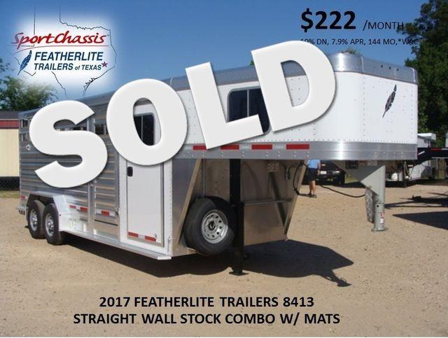 2017 Featherlite 8413 STOCK/ COMBO 20' STRAIGHT WALL CONROE, TX 0