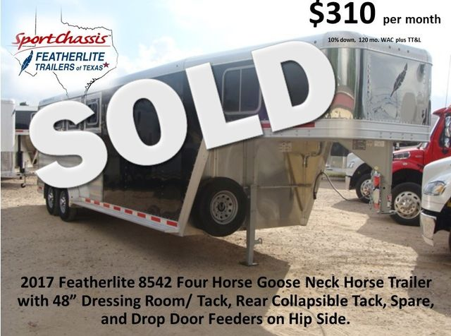 2017 Featherlite 8542 4H Four Horse CONROE, TX 0
