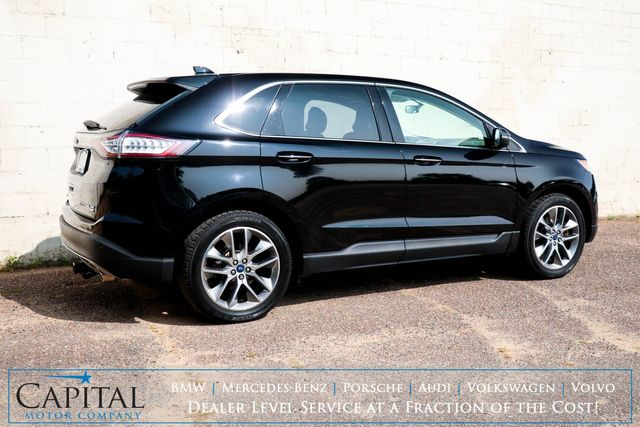 2017 Ford Edge Titanium AWD Crossover w/Nav, Heated/Cooled Seats, Panoramic Roof, Bluetooth & 2-Tone Interior in Eau Claire, Wisconsin 54703