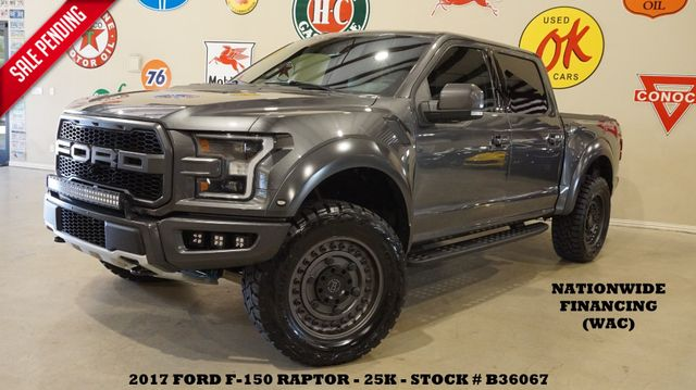2017 Ford F-150 Raptor 4X4 PANO ROOF,NAV,360 CAM,HTD/COOL LTH,25K