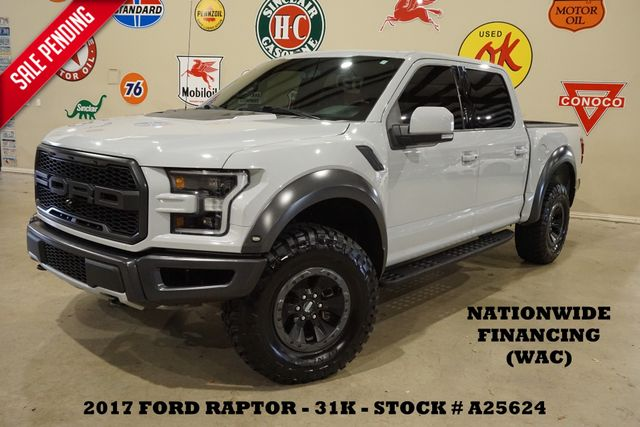 2017 Ford F-150 Raptor 4X4 PANO ROOF,NAV,360 CAM,HTD/COOL LTH,31K