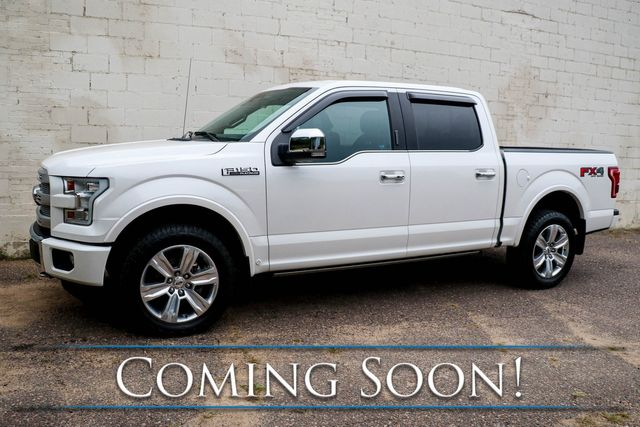 2017 Ford F-150 Platinum Crew Cab 4x4 w/FX-4 Pkg, Nav, 360º Cam, Heated/Cooled Seats & Automatic Parking