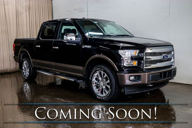 2017 Ford F-150 Lariat Crew Cab 4x4 w/Panoramic Roof, Nav, Heated/Cooled Seats, Pro-Backup Assist & 20s