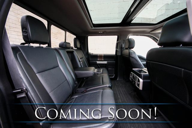 """2017 Ford F-150 Lariat Crew Cab 4x4 w/Nav, 360º Cam, Pro Trailer Backup Assist, Panoramic Roof & 20"""" Wheels in Eau Claire, Wisconsin 54703"""