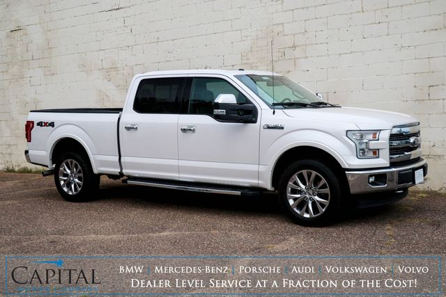 2017 Ford F-150 Lariat Crew Cab 4x4 w/5.0L V8, Panoramic Moonroof, Nav, 360º Cam and Heated/Cooled Seats in Eau Claire, Wisconsin 54703