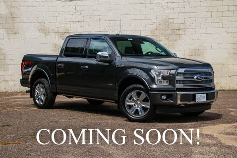2017 Ford F-150 Platinum Crew Cab 4x4 w/EcoBoost, FX-4 Package, Panoramic Roof and Technology Pkg in Eau Claire