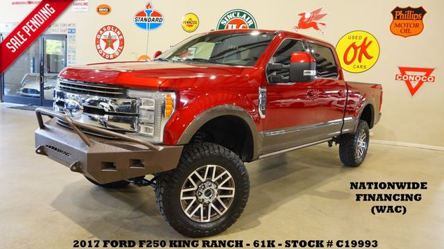 2017 Ford F-250 King Ranch 4X4 LIFTED,PANO ROOF,NAV,BED COVER,61K