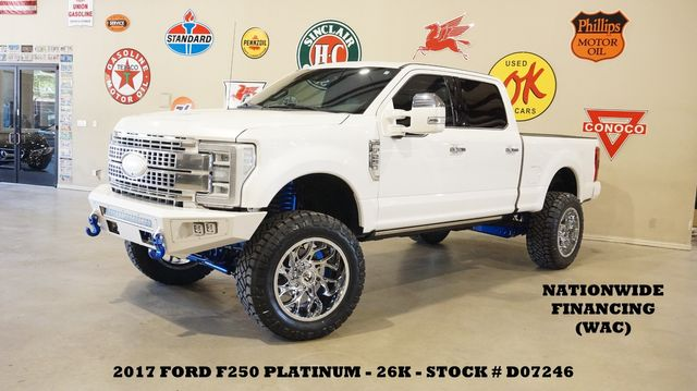 2017 Ford F-250 Platinum 4X4 LIFTED,BUMPERS,LED'S,FUEL 22'S,26K