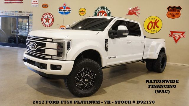 2017 Ford F-350 DRW Platinum 4X4 LIFTED,PANO ROOF,360 CAM,FUEL WHLS,7K