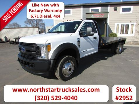 2017 Ford F-450 4x4 6.7 Flat Bed Truck  in St Cloud, MN