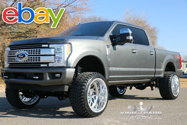 2017 Ford F250 Crew Platinum 6.7L DIESEL 7K MILES LIFTED MAGNETIC GRAY ALL OPTIONS