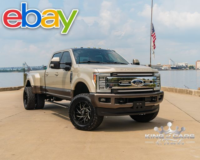2017 Ford F350 Drw 6.7l DIESEL 4X4 KING RANCH LOW MILES LIFTED WHEELS TIRES