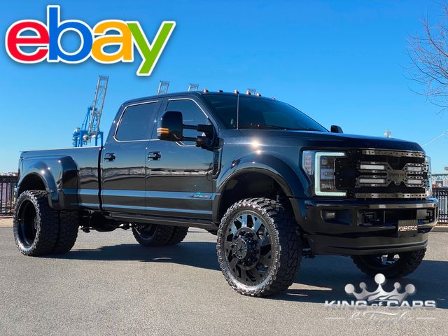 2017 Ford F450 Murder Dually Crew PLATINUM 6.7L DIESEL 23K MILE 4X4 ONE OF A KIND
