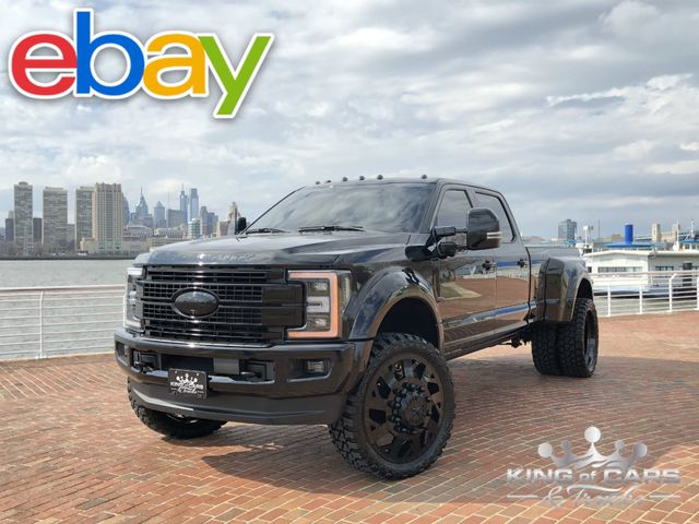 2017 Ford F450 Murder Dually Crew PLATINUM 6.7L DIESEL 6K MILE 4X4 ONE OF A KIND