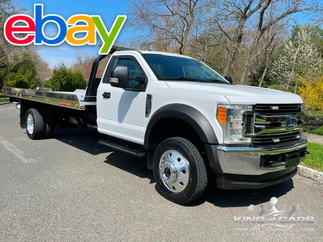 2017 Ford F550 Xlt 4x4 6.8l JERRDAN ALUMINUM BED WITH WHEEL LIFT LKE NEW