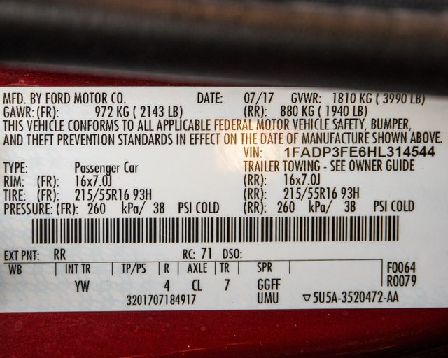 2017 Ford Focus SE Burbank, CA 31